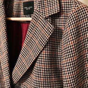 ASOS New Look Petite tailored coat in check